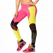 ZUMBA(ズンバ) ボトムス Zumba A Little Meshed Up Perfect Long Leggings Shocking Pink