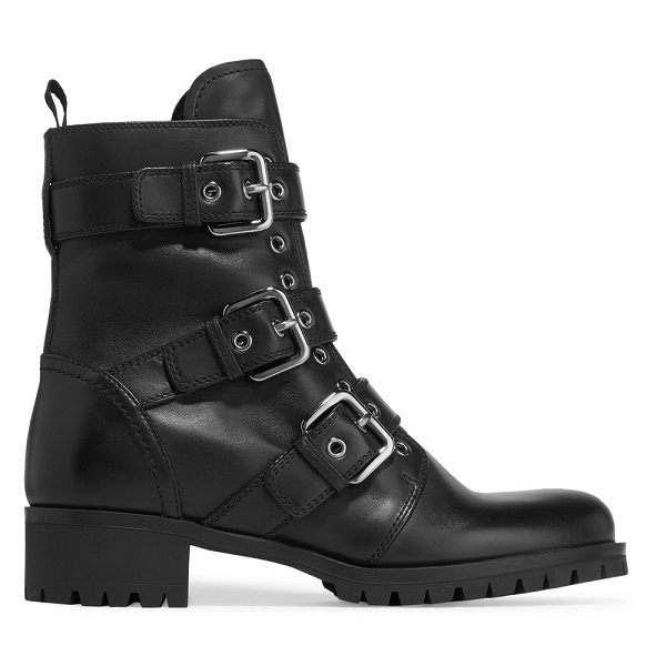 ☆PRADA Buckled leather boots