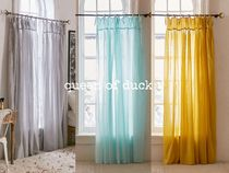 送込み_UO*Plum & Bow / Gathered Voile Curtain 2枚セット♪