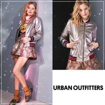 Urban Outfitters(アーバンアウトフィッターズ) ブルゾン ☆Urban Outfittersメタリックボンバージャケット☆送関込
