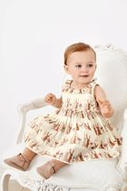 NEXT(ネクスト) 下着・肌着・パジャマ Ecru Bunny Print Prom Dress And Knickers (0mths-2yrs)