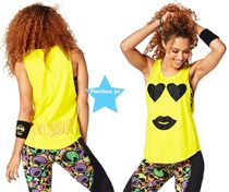 ZUMBA(ズンバ) トップス H28.12月【ZUMBA】Only Have Eyes For You Tank(Yellow)Z1T01167
