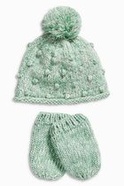 NEXT(ネクスト) 下着・肌着・パジャマ Mint Hat And Mitts Set (0mths-2yrs)