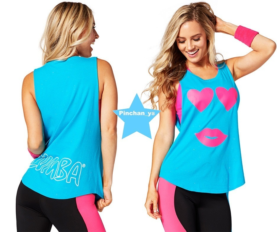 H28.12月【ZUMBA】Only Have Eyes For You Tank(Blue)Z1T01167