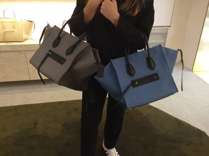 CELINE Vip Sale〓Medium Luggage Phantom Fabric・EMS