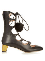 GUCCI★Heloise lace-up leather boots