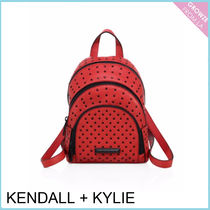 【Kendall + Kylie】レッドレザー スタッズ バックパック