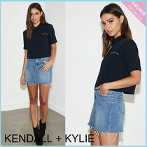 【Kendall + Kylie】新作!ローズ刺繍トップ バックスリット