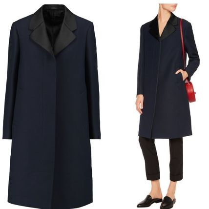 Jil Sander SALE * silk blend Twill coat