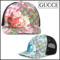 "17SS 新作 ""GUCCI"" GG Blooms ベースボールキャップ/2色"