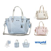 Mayoral(マヨラル) ベビーその他 MAYORAL☆BLUE QUILTED BABY CHANGING BAG (37CM)