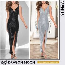 VENUS*SEQUIN DRESS WITH SLIT