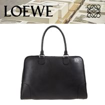LOEWE AMAZONA Lather Bag Black