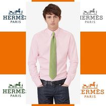 HERMES エルメス Montgolfiereシルクネクタイgreen/turquoise/gr
