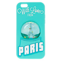 国内即発送★Claire's/Paris Snow Globe Liquid Fill iPhoneCase