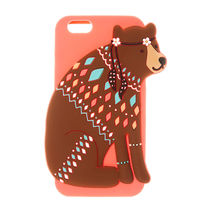 国内即発送★Claire's/Hippie Bear Silicone iPhone case 6/6S