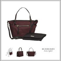 Burberry(バーバリー) ベビーその他 BURGUNDY RED BABY CHANGING BAG WITH LEATHER STRAPS (32CM)