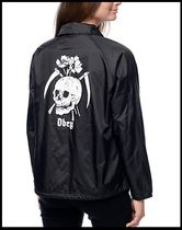 OBEY(オベイ) アウターその他 ★Obey★Reap Skull Black Coaches Jacket≪関税・送料込≫