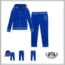 JUICY COUTURE(ジューシークチュール) キッズウェア JUICY COUTURE☆ BLUE COTTON VELOUR TRACKSUIT