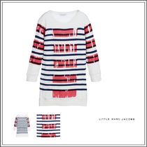 Little Marc Jacobs(リトルマークジェイコブス) キッズウェア IVORY COTTON KNITTED SWEATER DRESS WITH SEQUINS