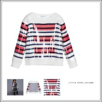 Little Marc Jacobs(リトルマークジェイコブス) キッズウェア  IVORY COTTON KNITTED SWEATER WITH SEQUINS
