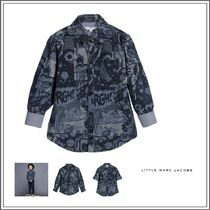 Little Marc Jacobs(リトルマークジェイコブス) キッズウェア LITTLE MARC JACOBS☆ BLUE COTTON CHAMBRAY COMIC STRIP SHIRT