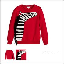 Little Marc Jacobs(リトルマークジェイコブス) キッズウェア LITTLE MARC JACOBS☆ RED COTTON KNITTED ZEBRA SWEATER