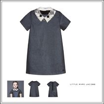 Little Marc Jacobs(リトルマークジェイコブス) キッズウェア LITTLE MARC JACOBS☆BLUE GLITTER DRESS WITH SILVER COLLAR