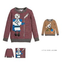 Little Marc Jacobs(リトルマークジェイコブス) キッズウェア LITTLE MARC JACOBS☆ RED KNITTED COTTON SWEATER