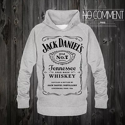 ※関・送無料※NO COMMENT PARIS jack danielsグレー パーカー