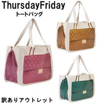 b品アウトレット thursday friday Diamonds Cognac tote bag