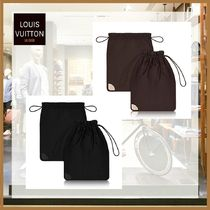 Louis Vuitton(ルイヴィトン) トラベル小物 【Louis Vuitton】牛皮レザー 靴シューズポーチセット 茶色 黒色