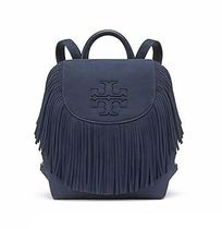 【 Tory Burch 】HARPER FRINGE MINI BACKPACK トリーネイビー