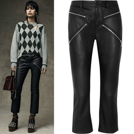 """16-17AW AW026 LOOK13 CROPPED BOOTCUT PANTS WITH """"X"""" ZIPPER"""