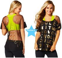 ZUMBA(ズンバ) トップス H28.12月☆【ZUMBA】Let It Move You Mesh Tee(Black)Z1T01170