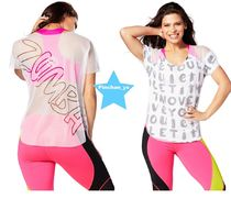 ZUMBA(ズンバ) トップス H28.12月☆【ZUMBA】Let It Move You Mesh Tee(White)Z1T01170