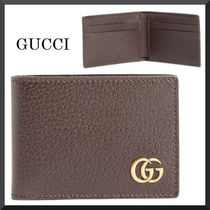 GUCCI(グッチ) 折りたたみ財布 GUCCI Marmont Leather Wallet 関税送料込み