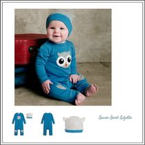 ベビーウェア・ロンパース LEMON LOVES LAYETTE☆ BLUE BABYGROW AND HAT 2 PIECE SET