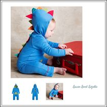 ベビーウェア・ロンパース LEMON LOVES LAYETTE☆ BLUE DINOSAUR HOODED BABYGROW