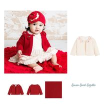 ベビーウェア・ロンパース LEMON LOVES LAYETTE☆ RED KNITTTED CARDIGAN