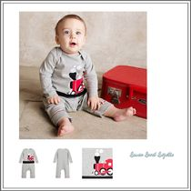 ベビーウェア・ロンパース LEMON LOVES LAYETTE☆ GREY TRAIN BABYGROW