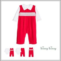 ベビーウェア・ロンパース KISSY KISSY☆COTTON VELOUR 2 PIECE 'CLB HOLIDAY' BABYGROW