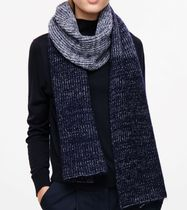 "COS(コス) マフラー ""COS""LONG MELANGE SCARF NAVY"