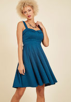 modcloth(モドクロス) ワンピース 【海外限定】Modcloth人気ワンピ☆Pull Up a Cherry A-Line Dres