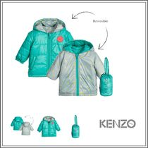 KENZO(ケンゾー) ベビーウェア・ロンパース KENZO☆ GREEN REVERSIBLE 'RESPECT & SMILE' JACKET