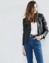 ASOS(エイソス) ジャケット ASOS Ultimate Leather Look Biker Jacket with Piped Detail