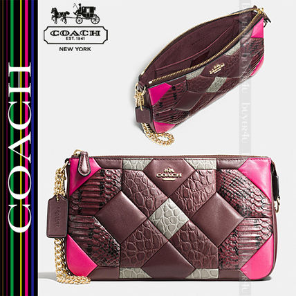 COACH★CANYON QUILT NOLITA WRISTLET 24 IN LEATHER 66315
