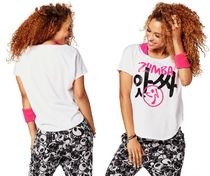 【ズンバ】 Zumba Joy Tulip Top Wear It Out White