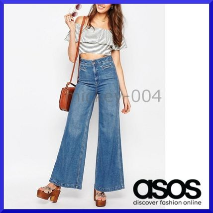 Shipping / ASOS Sling-back with wide denim pants