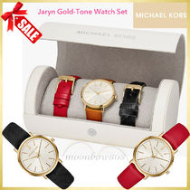 MICHAEL KORS ★ Jaryn Gold-Tone Watch Set☆レザーベルト3色